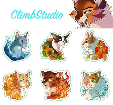 Warrior Cat Stickers - On Sale Now!