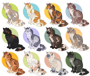 warrior cat adoptables - all sold thanks!
