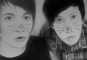 Dan and Phil by BasketCaseA7X