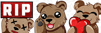 BekahBear Affiliate emotes by DauntlexGFX
