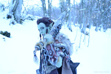 Warsong Commander: Winter Photoshoot 03 by BlackOwlStudio