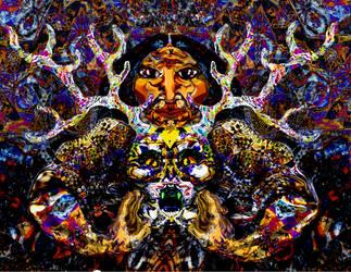 Tribesman and the Wendigo Skull      i0V0i         by meso-mhyrr
