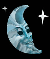 Meandering Moonman Mask            by meso-mhyrr