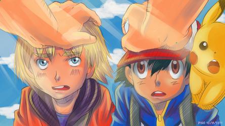 BW 54 - Two little boys by Zinoman