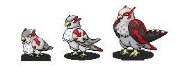 Bird family - sprites by Arc-Arceus