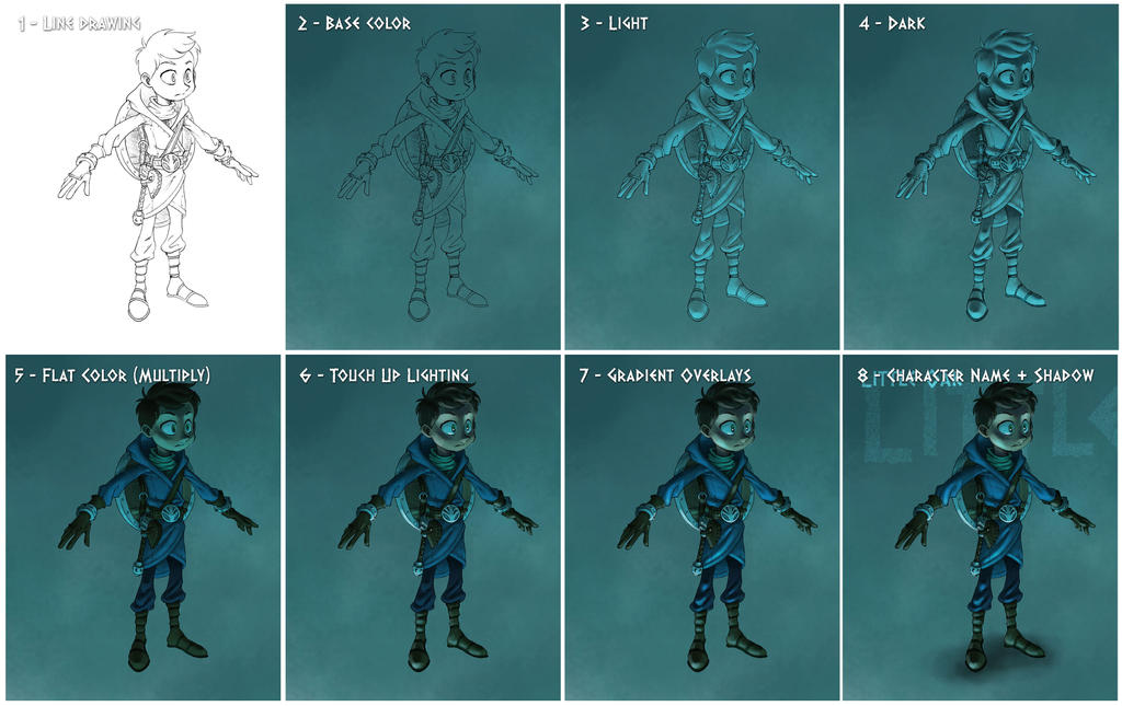 Character Design Process : Little oak character design process by kevin allen on