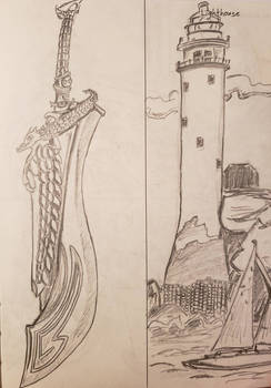sword / lighthouse