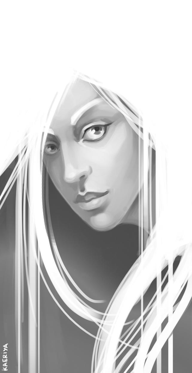 girl sketch by Kaeriya
