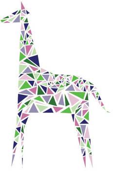 Colored Giraffe