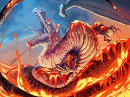 Lava Dragon by FleetingEmber