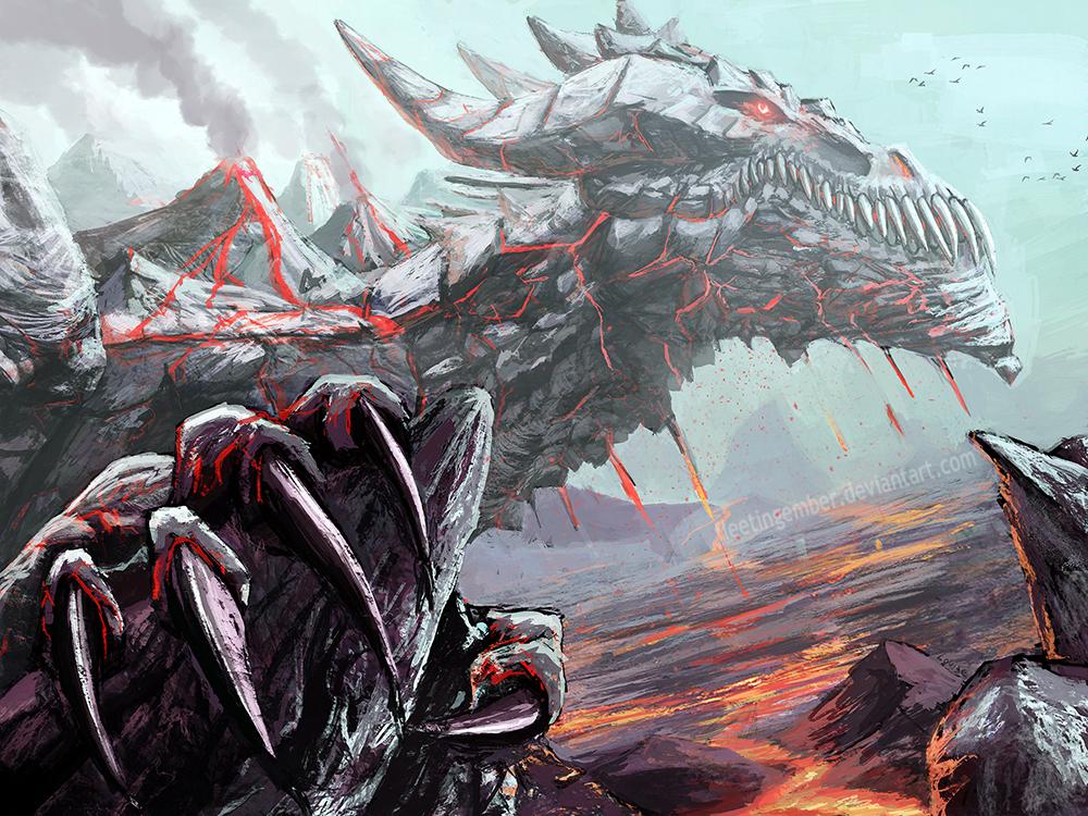 Volcanic Dragon by FleetingEmber