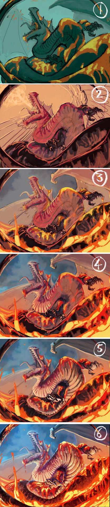 Lava Dragon Progress Walkthrough by FleetingEmber