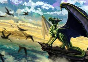 Green Dragon by FleetingEmber