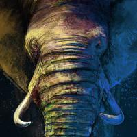 The Gaze of the Elephant by FleetingEmber