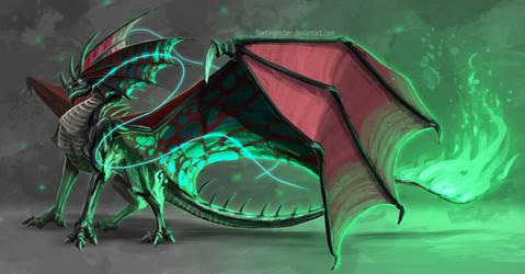 Abyss Spirit Dragon by FleetingEmber