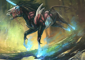 Undead Unicorn by FleetingEmber