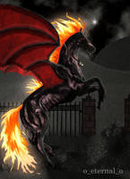 Demonata: Dark Unicorn by FleetingEmber