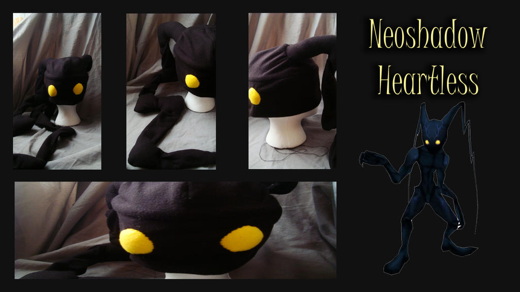 Neoshadow Heartless Hat by CelestialCrafts