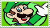 Not-So-3D Luigi stamp 2 by KimberlyTheHedgie
