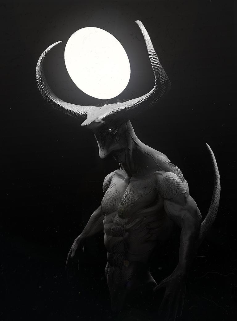 Demon Sketch by ApeironDiesirae