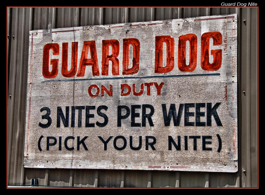 Guard Dog Nite by boron