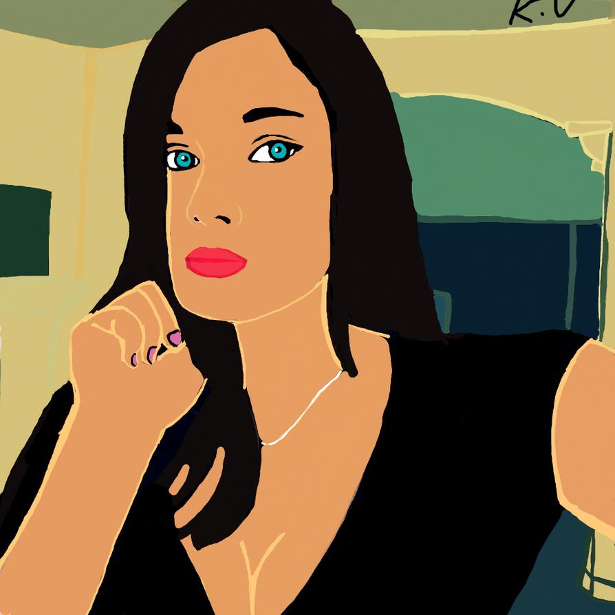 Me painting by katval1