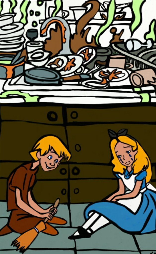 Don't Cry Little Sister Arthur and Alice by katval1