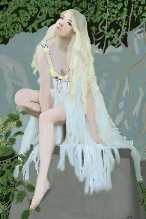 Women in white by katval1