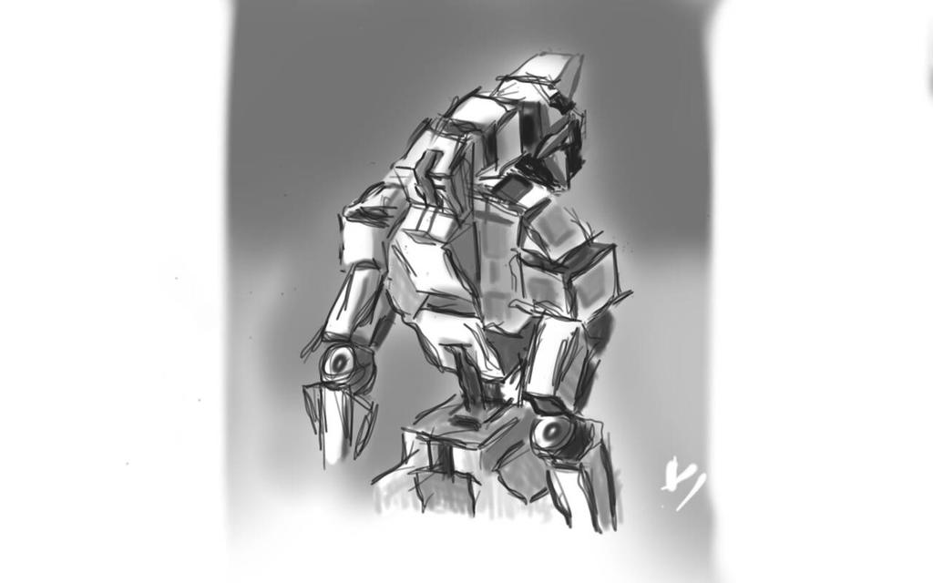old mobile suit by valiamusssoco
