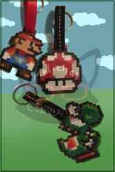 Mario, yoshi and mush key