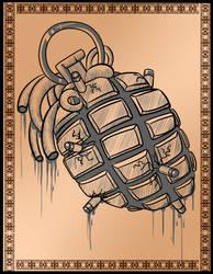 Tattoo concept - 02 - War Heart by melichatmangart