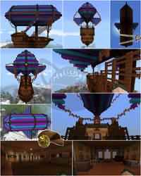 Sidus flying ship   minecraft