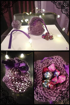 Purple Bag for DnD dice