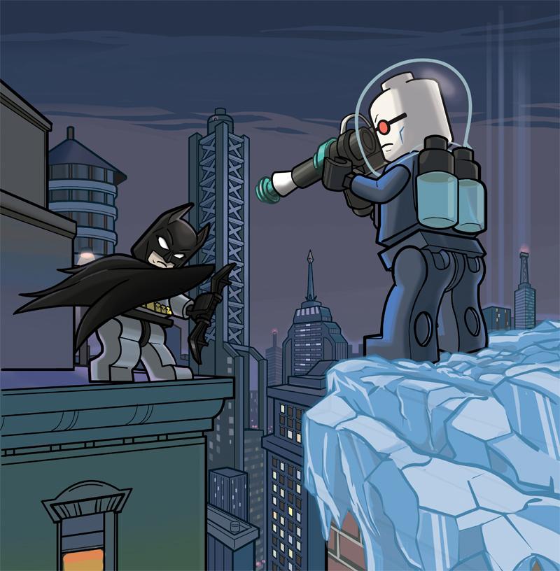 Lego Batman vs Mr. Freeze by ActionMissiles