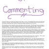 The Art of Commenting by Saknika