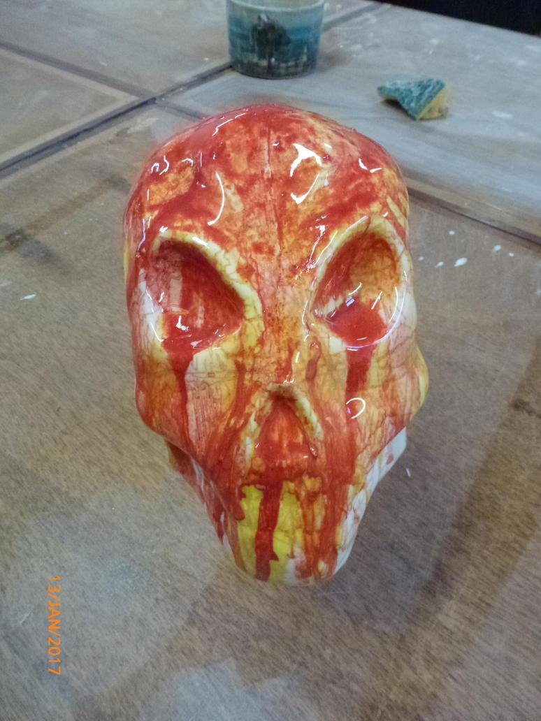 Fiery Skull by orangehokage7