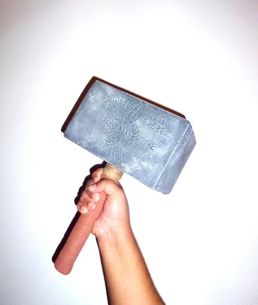 Real Comic Thor's Hammer by orangehokage7