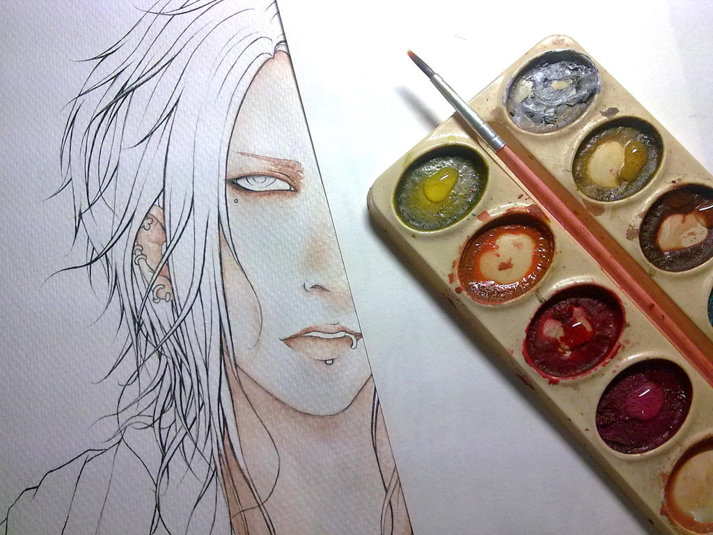 Coloring WIP by michikurai