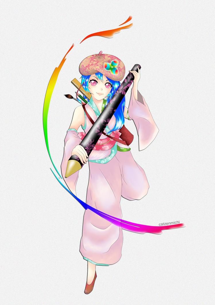 MediBang Paint splash of colors by michikurai