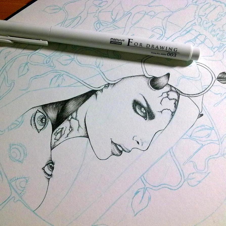 Slow progress... by michikurai