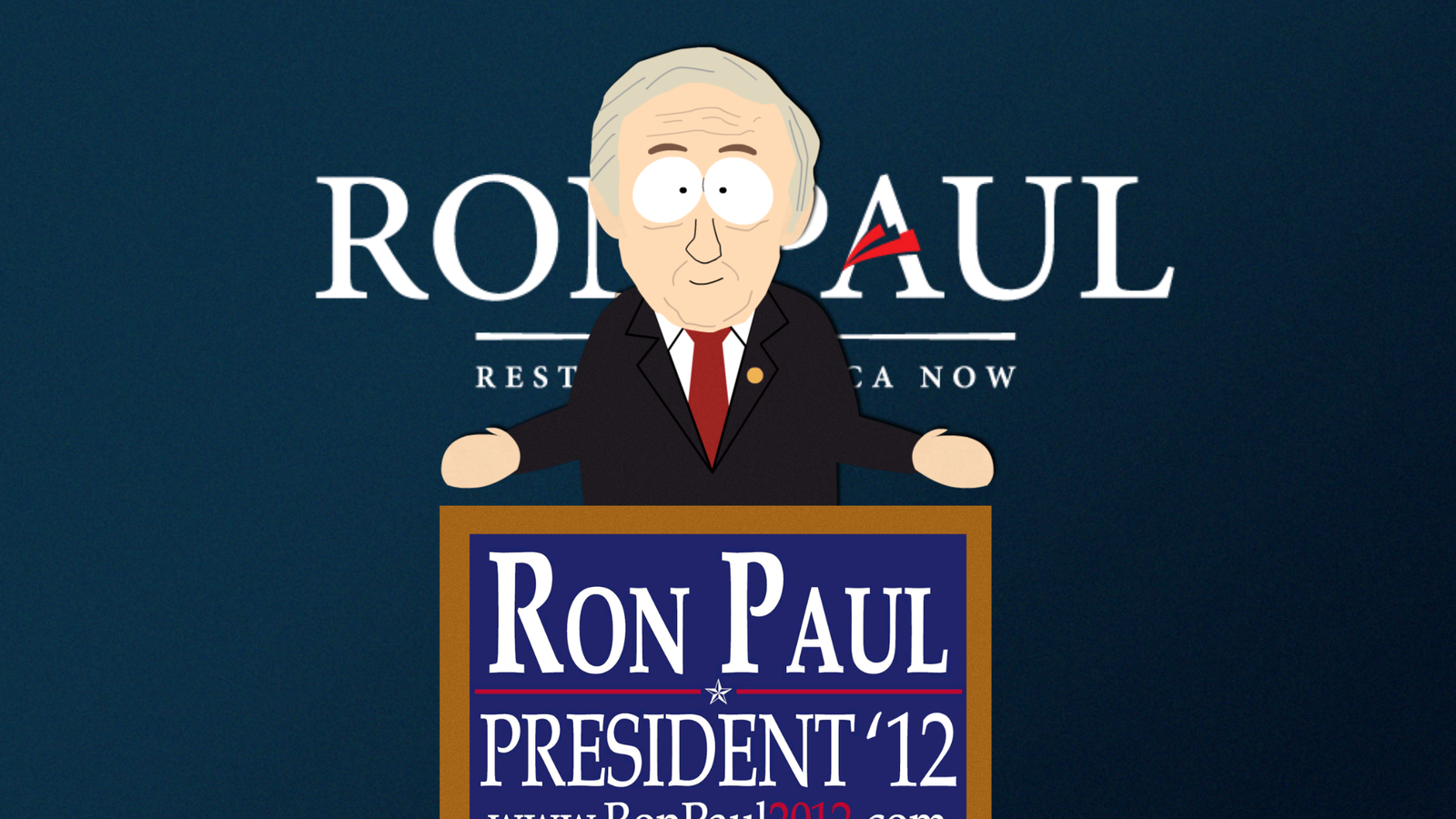 South Park Ron Paul by AnonPaul
