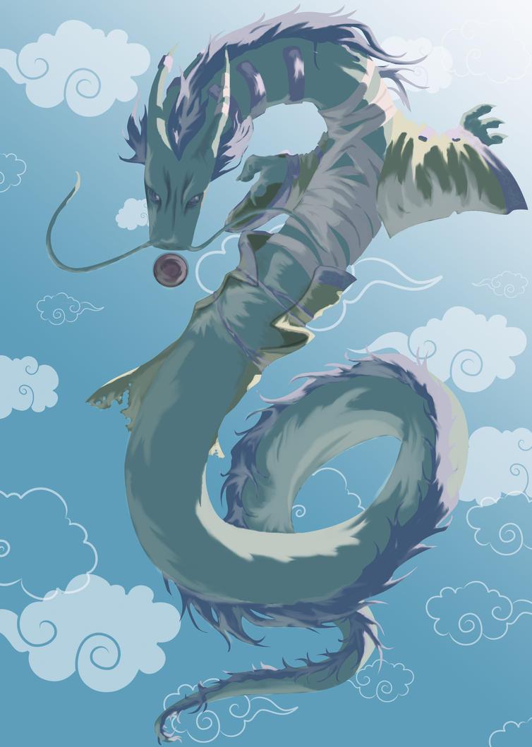Skribble Dragon by emeraudolupus