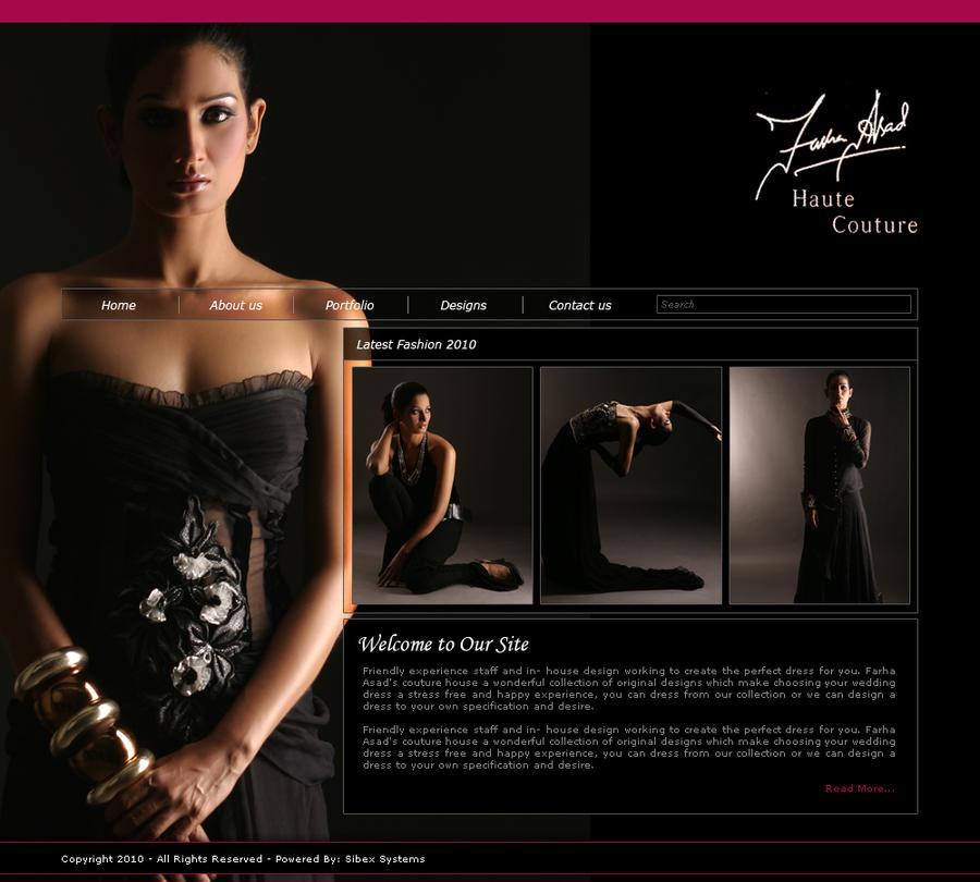 Farah Asad Fashion Design Web by G9studios on DeviantArt