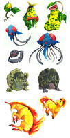 another set of pokemons by evelmiina