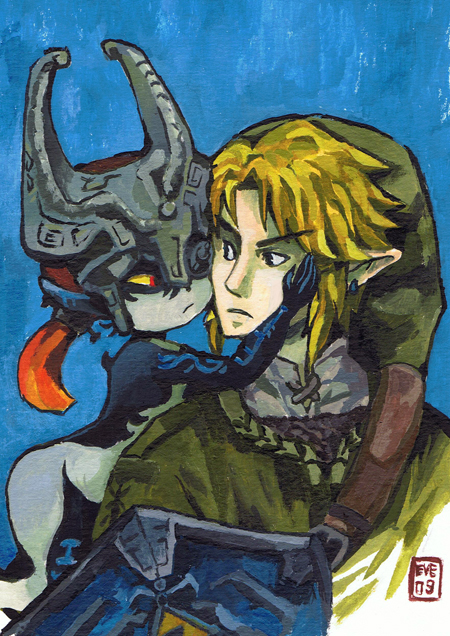Midna and Link by evelmiina