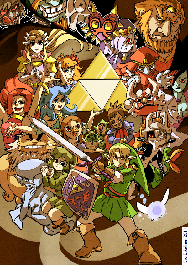 The Legend of Zelda 25 years by evelmiina