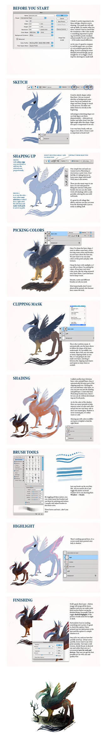 Clipping mask tutorial by evelmiina