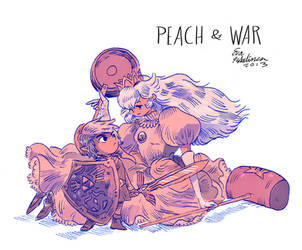Peach and War by evelmiina