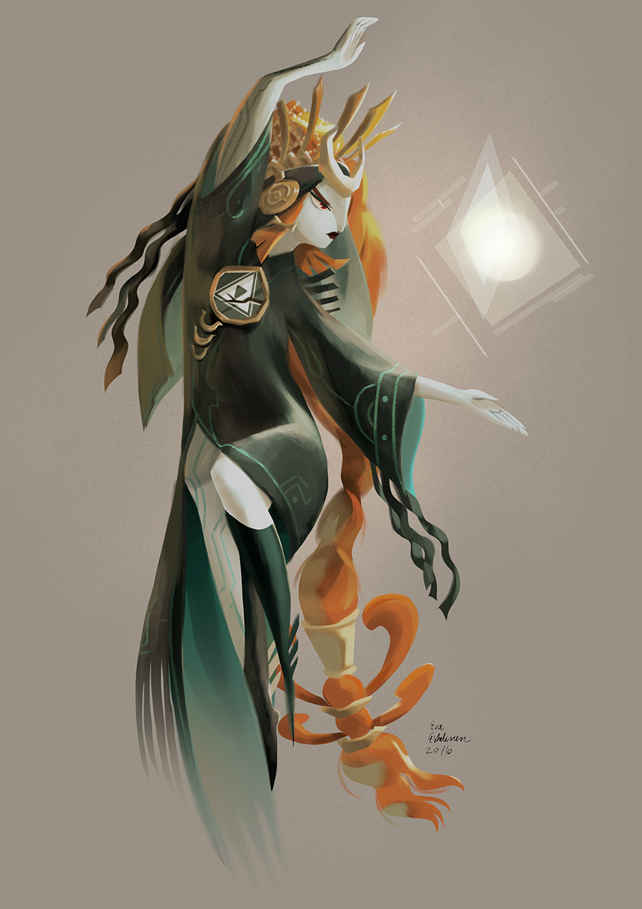 Midna re-design for character design challenge by evelmiina