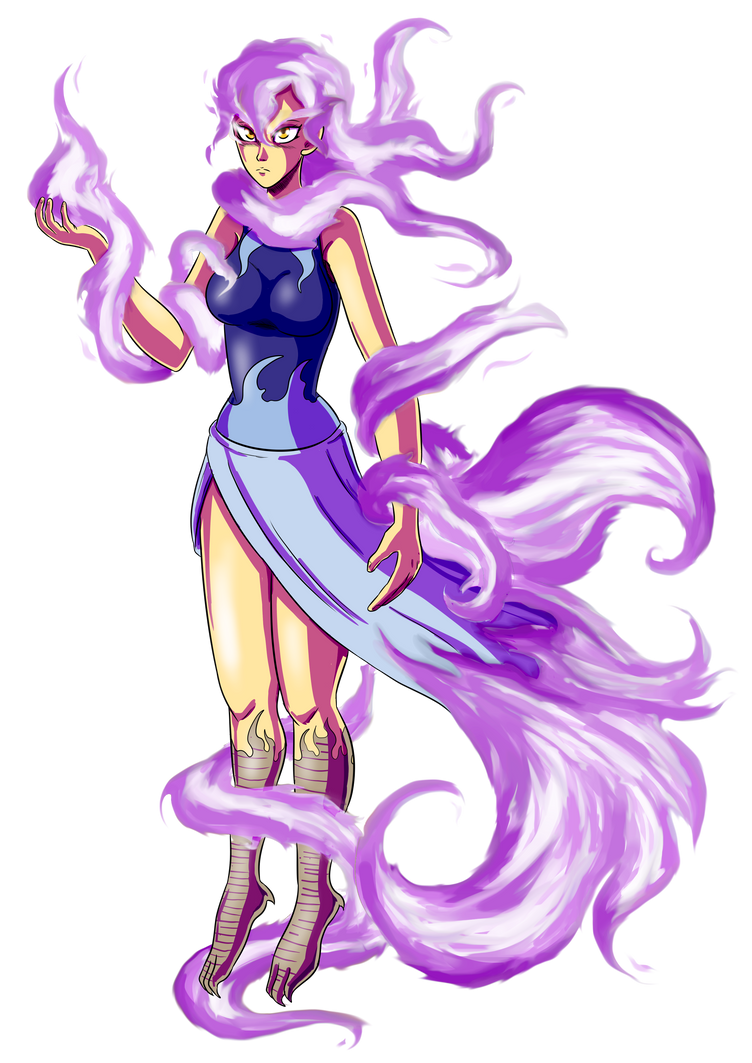 Sulfurielle - Adrielle and Moltres fusion by Veguito2b